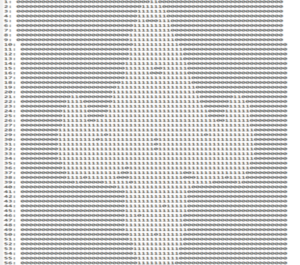 A text file representation of a mask