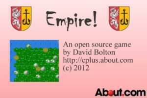 Splash screen from the Empire game