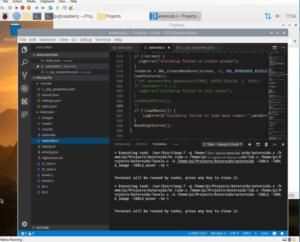 Hyper-V RaspberryPi running VS Code