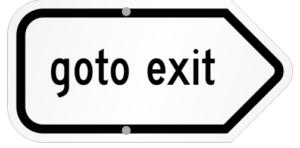 goto exit sign