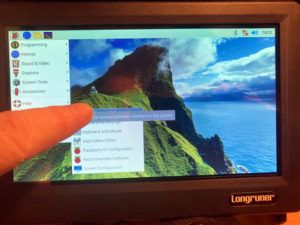 longruner touchscreen being touched