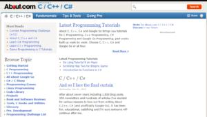 Cplus.About.com screenshot