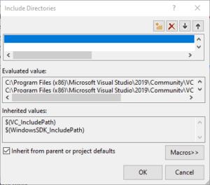 Visual studio folder edit