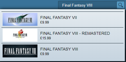 Steam Final Fantasy VIII