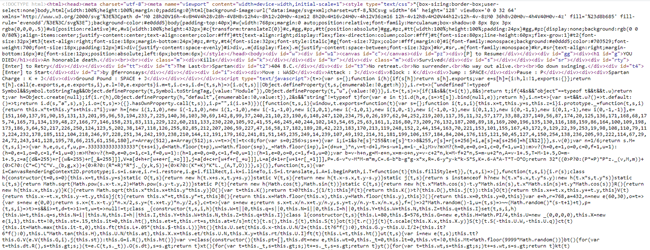 Screenshot of last Spartan source code