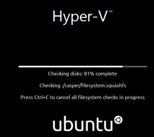 Hyper-V Ubuntu install
