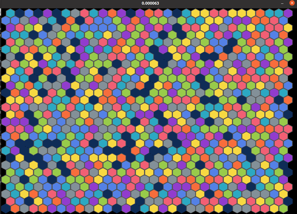 Onslaught linux hexagons screen