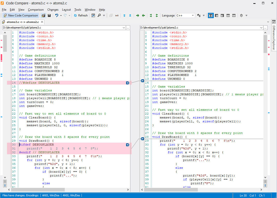 Devart Code compare diff utility in action