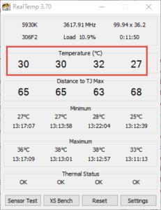 H60 PC Temperature